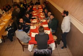 a cena con Falsini